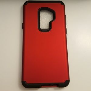 case for samsung galaxy s9+ plus red-black new3pcs